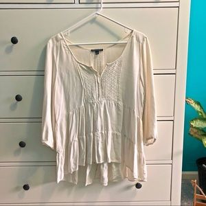 Off white peasant blouse